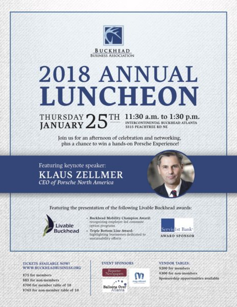 BBA Luncheon Invitation - 8.5 x 11 for Liveable Buckhead