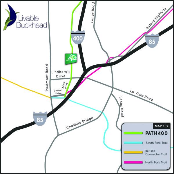 Buckhead Trail Confluence Map