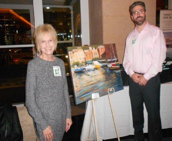 Artist Lynn Tolleson and BCA Ben Howard
