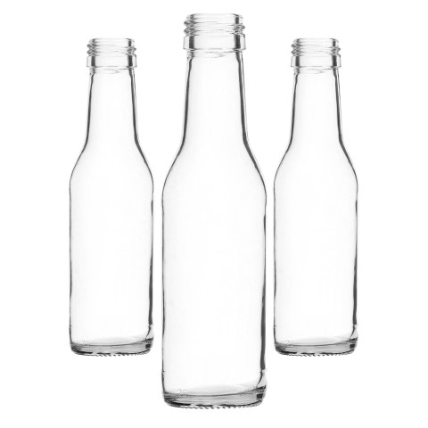 Small Simple Glass Bottle isolated on white background